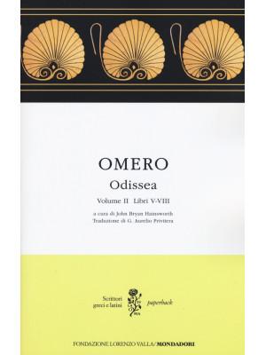 Odissea. Testo greco a fronte. Vol. 2: Libri V-VIII