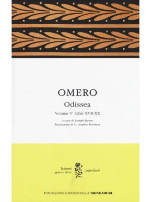 Odissea. Testo greco a fronte. Vol. 5: Libri XVII-XX