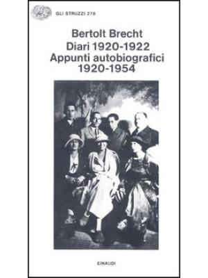 Diari (1920-1922). Appunti autobiografici 1920-1954