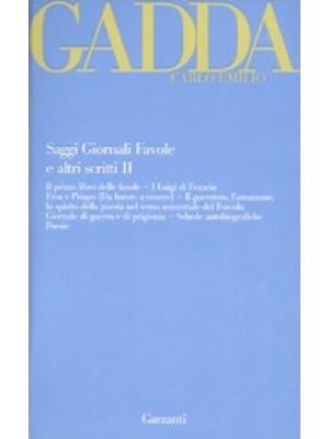 Saggi giornali favole e altri scritti. Vol. 2