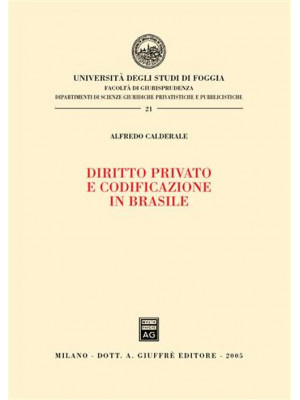 Diritto privato e codificazione in Brasile