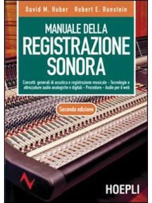 Manuale della registrazione sonora