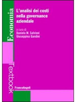 L'analisi dei costi nella governance aziendale