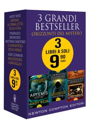 3 grandi bestseller. Orizzonti del mistero: Artemis. La prima città sulla luna-Il monastero delle nebbie-Maledizione Caravaggio