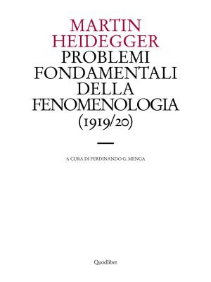 Problemi fondamentali della fenomenologia (1919-20)
