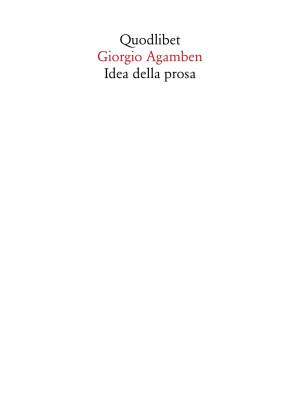 Idea della prosa