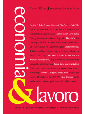 Economia & lavoro (2020). Vol. 3