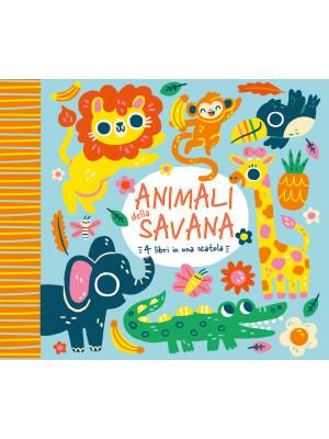 Animali della savana. 4 libri in una scatola. Ediz. a colori