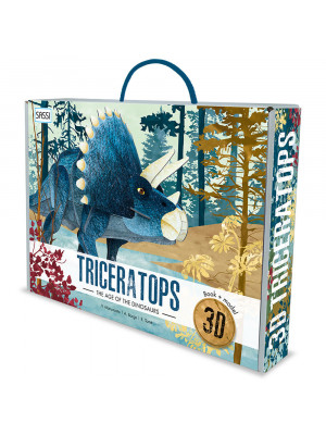 3D Triceratops. The Age of the Dinosaurs. Con Giocattolo