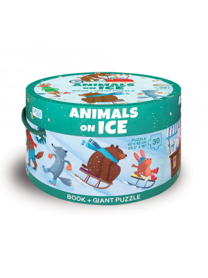 Animals on ice. Ediz. a colori. Con puzzle