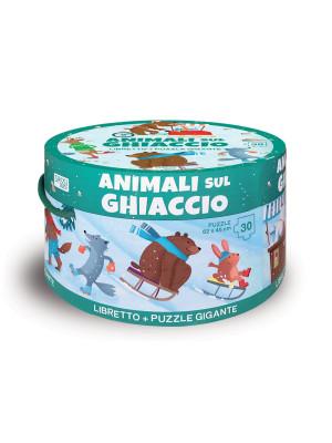 Animali sul ghiaccio. Ediz. a colori. Con puzzle