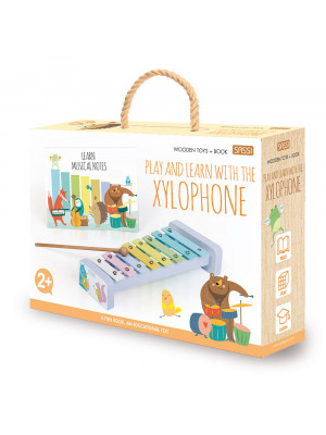 Play and learn with the xylophone. Wooden toys. Ediz. a colori. Con Giocattolo