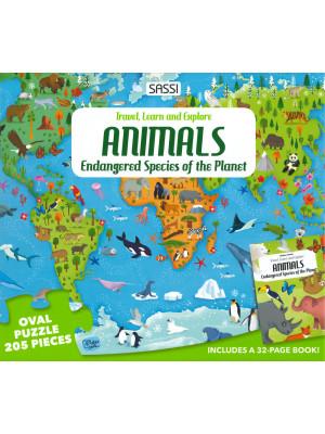 Animals of the world. Endangered species. Ediz. a colori. Con puzzle