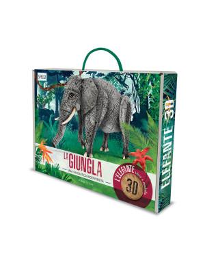 La giungla. Una fantastica biodiversità. Elefante 3D. Con gadget