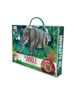 The jungle. The elephant 3D. Con gadget