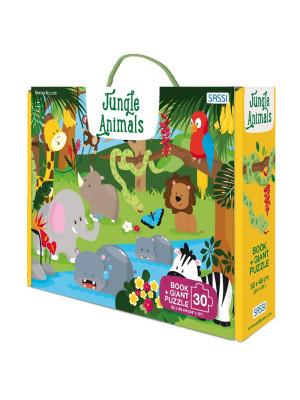 Jungle animals. Ediz. a colori. Con puzzle