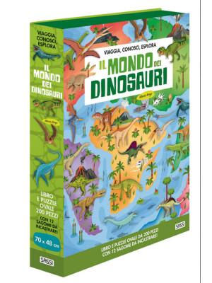 Il mondo dei dinosauri. Viaggia, conosci, esplora. Ediz. a colori. Con puzzle