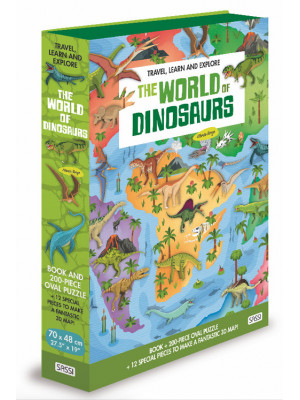 The world of dinosaurs. Travel, learn and explore. Ediz. a colori