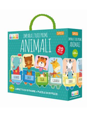 Impara i tuoi primi animali. Ediz. a colori. Con puzzle