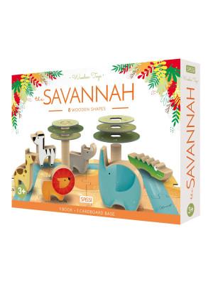 The savannah. Wooden toys. Ediz. a colori. Con Giocattolo