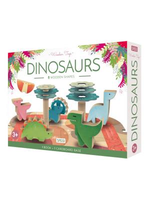 Dinosaurs. Wooden toys. Ediz. a colori. Con Giocattolo