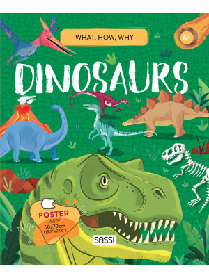 Dinosaurs. What, How, Why. Con Poster