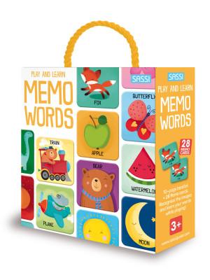 Play and learn. Word memo. Con tessere memo
