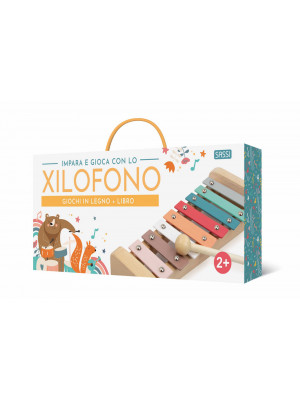Impara e gioca con lo xylofono. Giochi in legno. Ediz. a colori. Con xilofono
