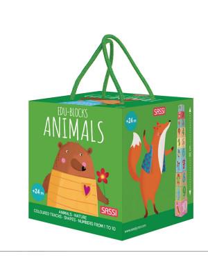 Animals. Edu-blocks. Ediz. a colori. Con gadget