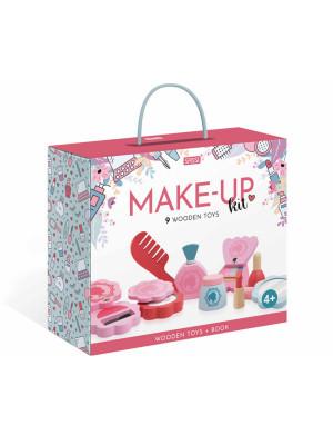 Make-up Kit. Wooden toy. Nuova ediz. Con 9 formine in legno