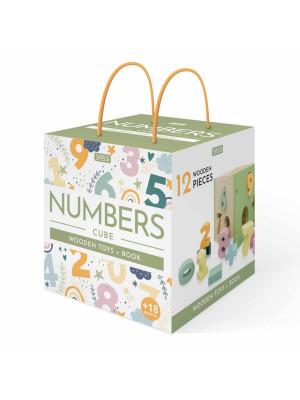 Numbers cube. Wooden toys. Nuova ediz. Con 12 formine in legno