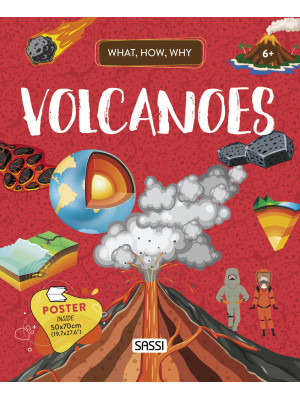 Volcanoes. What, how, why. Con Poster