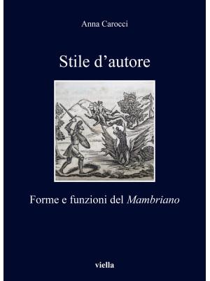 Stile d'autore. Forme e funzioni del Mambriano