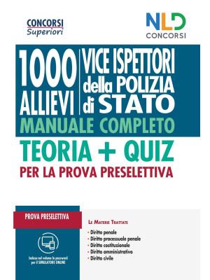 Concorso Vice Ispettori Polizia di Stato 2020: Manuale completo per la prova preselettiva. Con Contenuto digitale per accesso on line