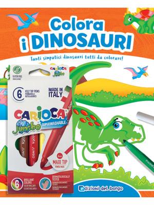 Colora i dinosauri. Con 6 pennarelli