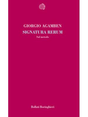 Signatura rerum. Sul metodo