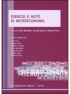 Esercizi e note di microeconomia