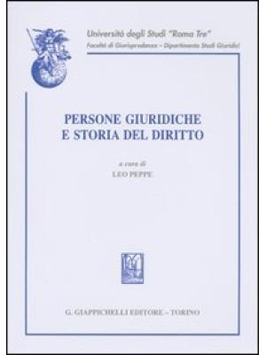 Persone giuridiche e storia del diritto