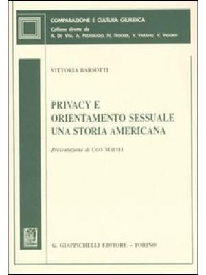 Privacy e orientamento sessuale. Una storia americana