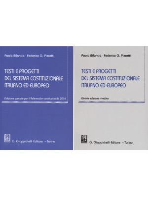Testi e progetti del sistema costituzionale italiano ed europeo
