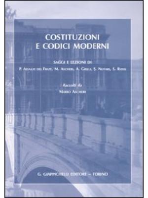 Costituzioni e codici moderni