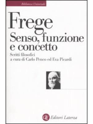 Senso, funzione e concetto. Scritti filosofici 1891-1897