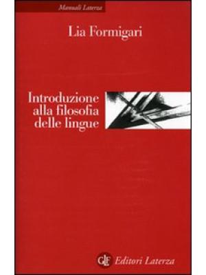 Introduzione alla filosofia delle lingue