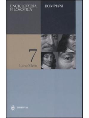 Enciclopedia filosofica. Vol. 7: Lan-Mem