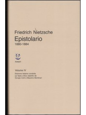 Epistolario. Vol. 4: 1880 - 1884