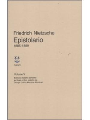 Epistolario. Vol. 5: 1885 - 1889