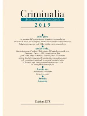 Criminalia. Annuario di scienze penalistiche (2019). Vol. 14