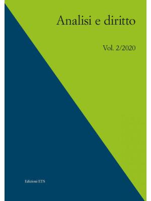 Analisi e diritto. Ediz. italiana e inglese (2020). Vol. 2