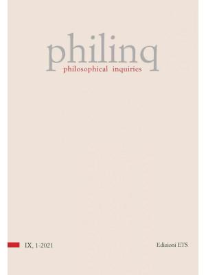 Philinq. Philosophical inquiries (2021). Vol. 1