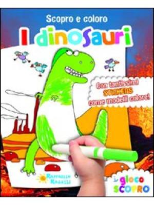 I dinosauri. Scopro e coloro. Con adesivi. Ediz. illustrata
